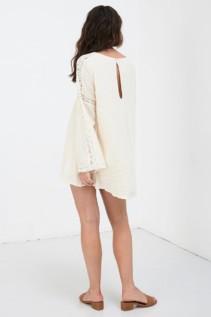 SPELL AND THE GYPSY Doe Eyed Mini Cream Dress