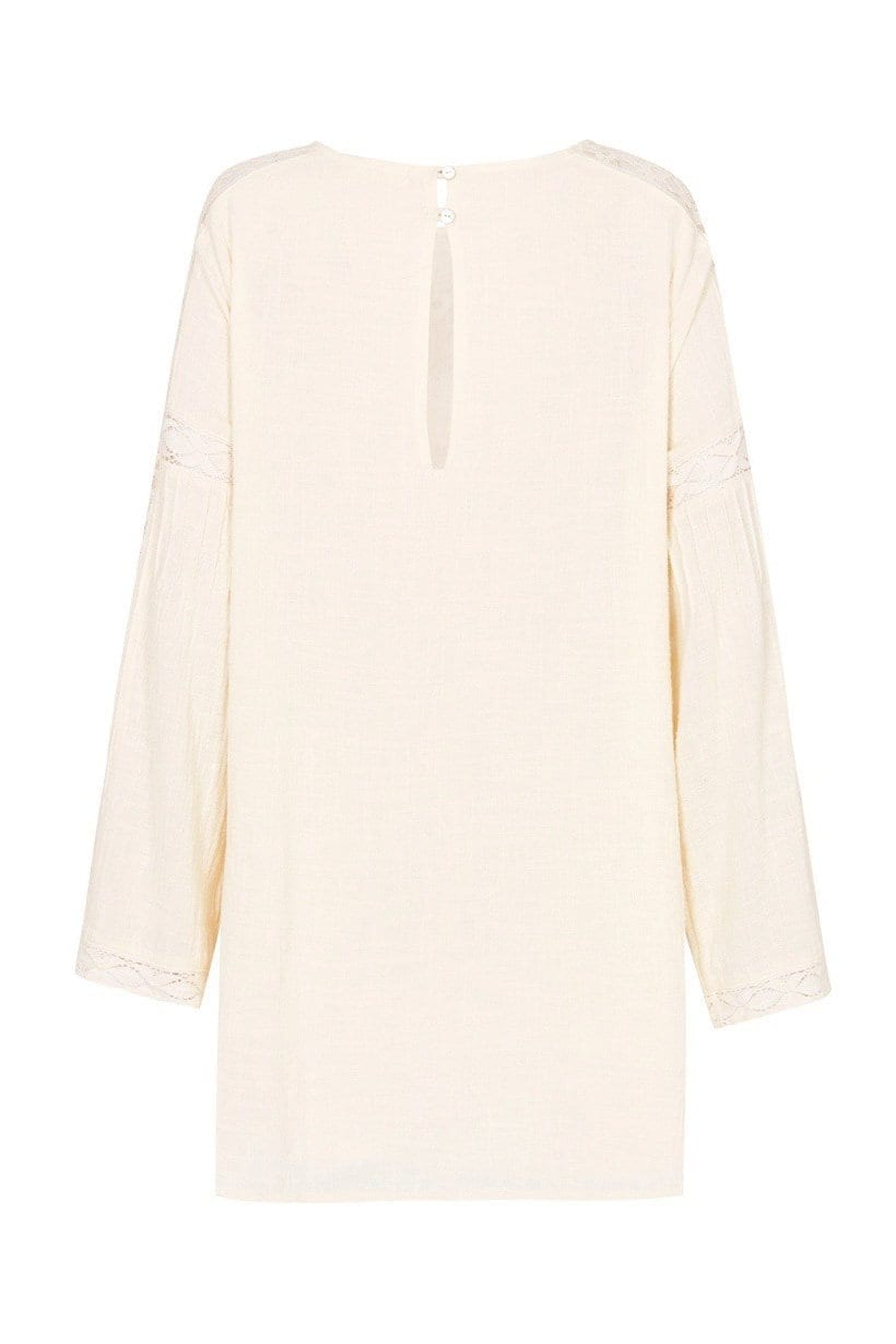 SPELL AND THE GYPSY Doe Eyed Mini Cream Dress