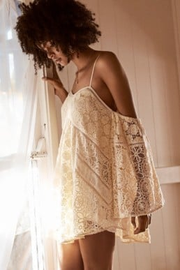 SPELL AND THE GYPSY Imperial Lace Mini Off White Dress