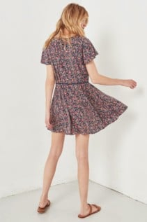 SPELL AND THE GYPSY Jasmine 90's Mini Navy / Floral Printed Dress