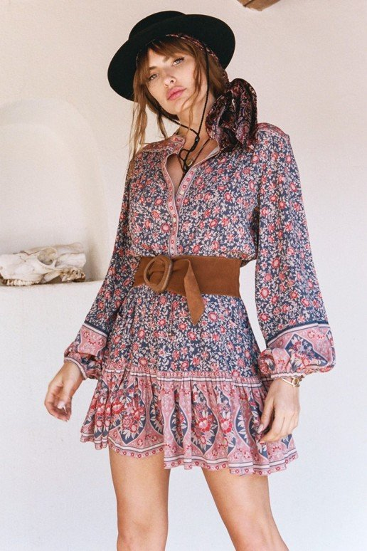 SPELL AND THE GYPSY Jasmine Play Navy / Floral Printed Dress
