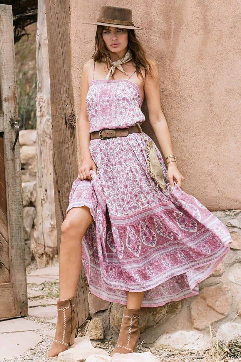 SPELL AND THE GYPSY Jasmine Strappy Maxi Lilac Dress
