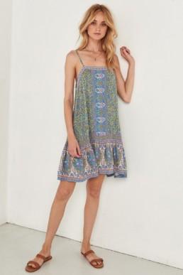 SPELL AND THE GYPSY Jasmine Strappy Mini Jade Dress