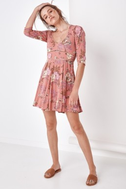 SPELL AND THE GYPSY Rosa 90's Blush Dress