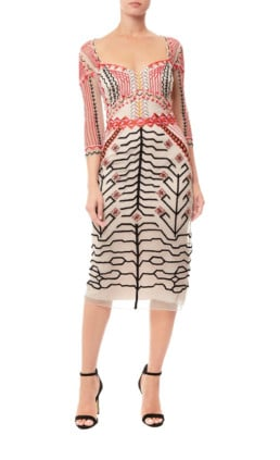 TEMPERLEY LONDON Canopy Fitted Almond Dress