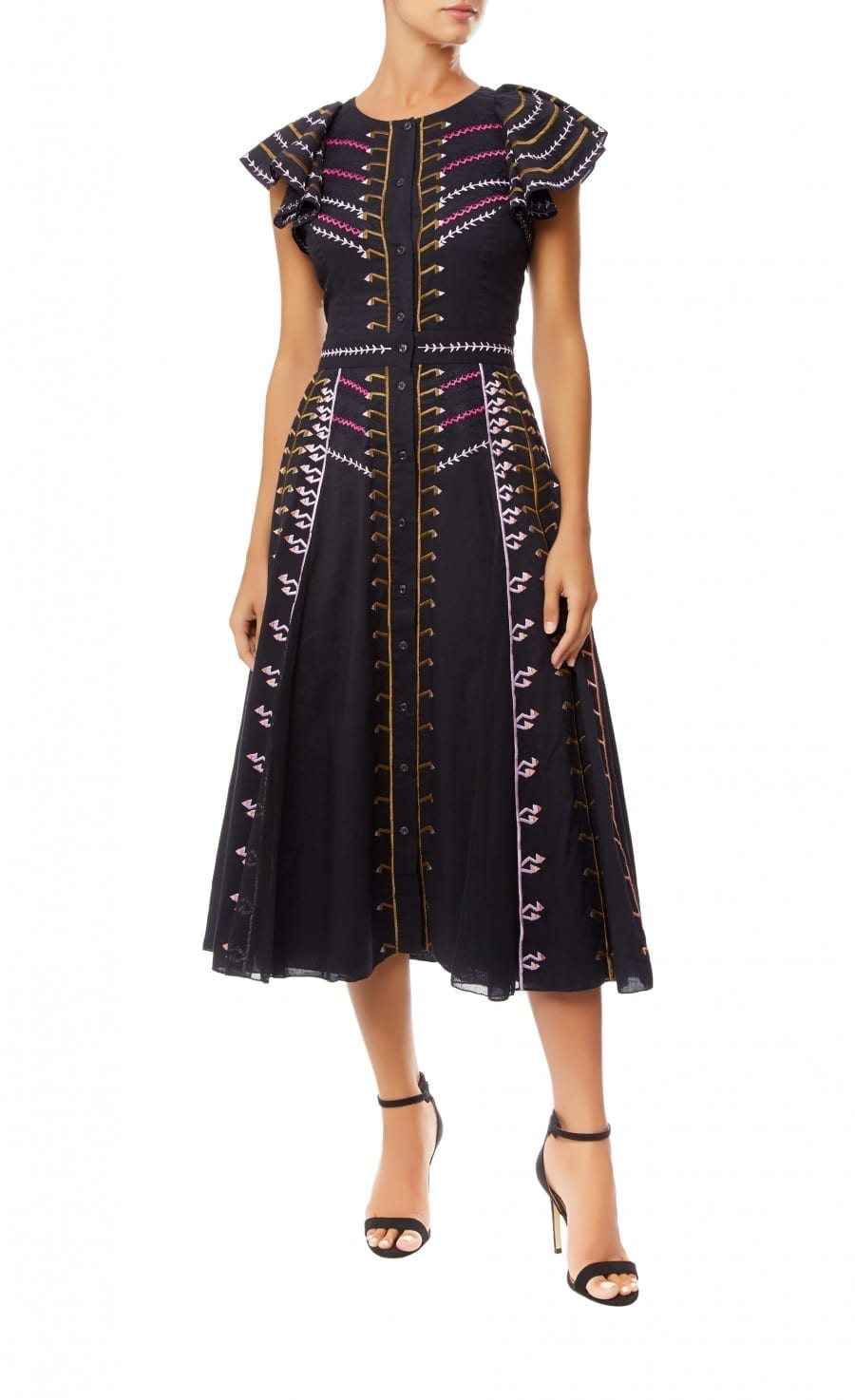 TEMPERLEY LONDON Expedition Sleeved Navy Dress