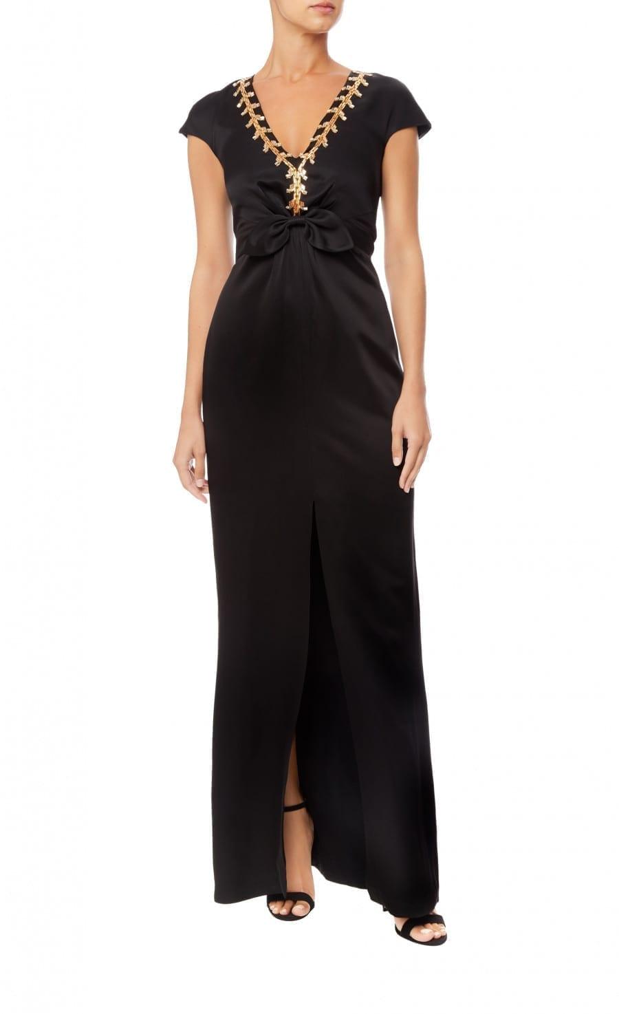 TEMPERLEY LONDON Nile Tie Black Dress