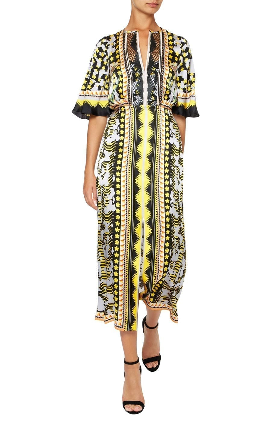 TEMPERLEY LONDON Odyssey Midi Black Dress