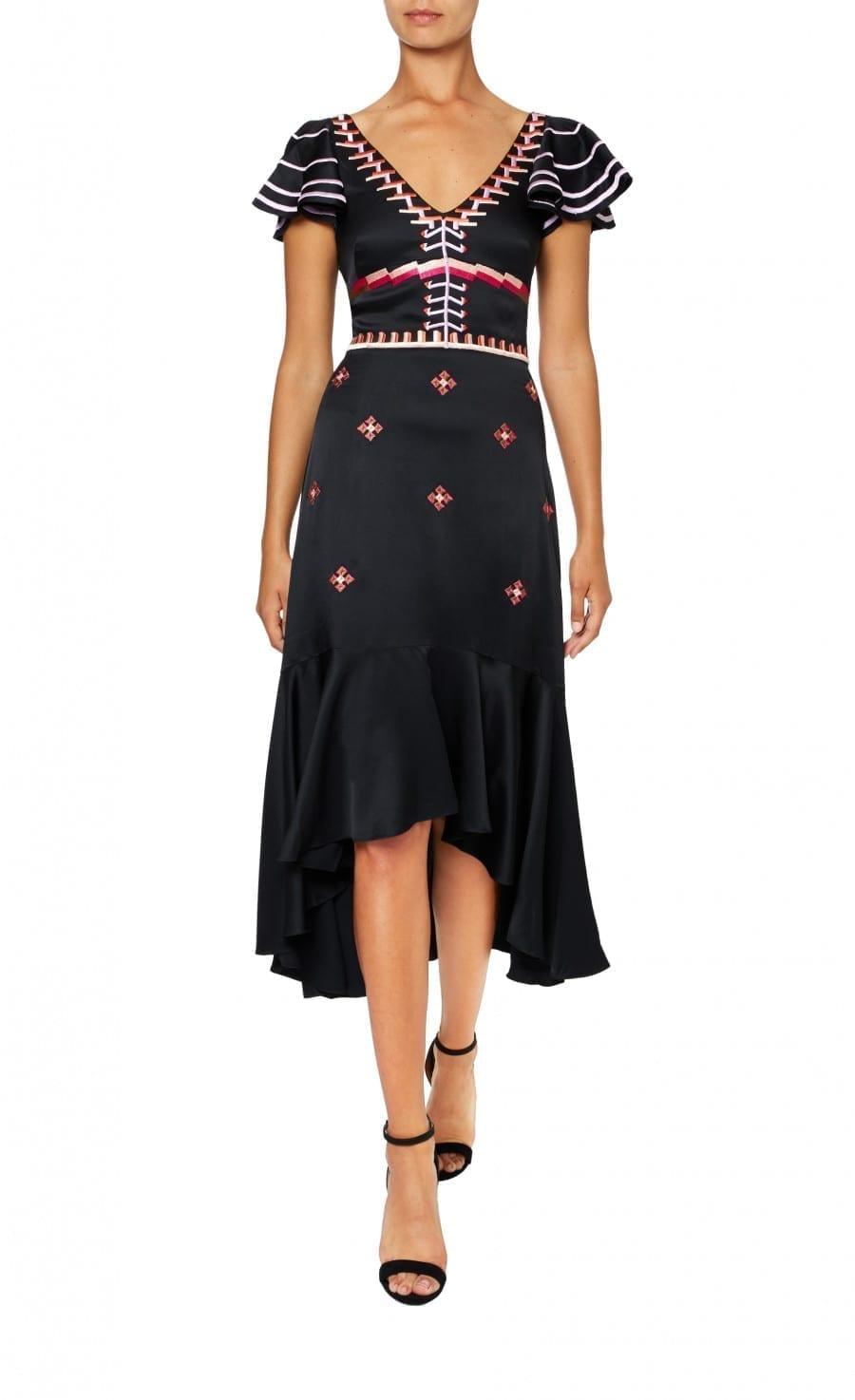 TEMPERLEY LONDON Traveller Black Dress