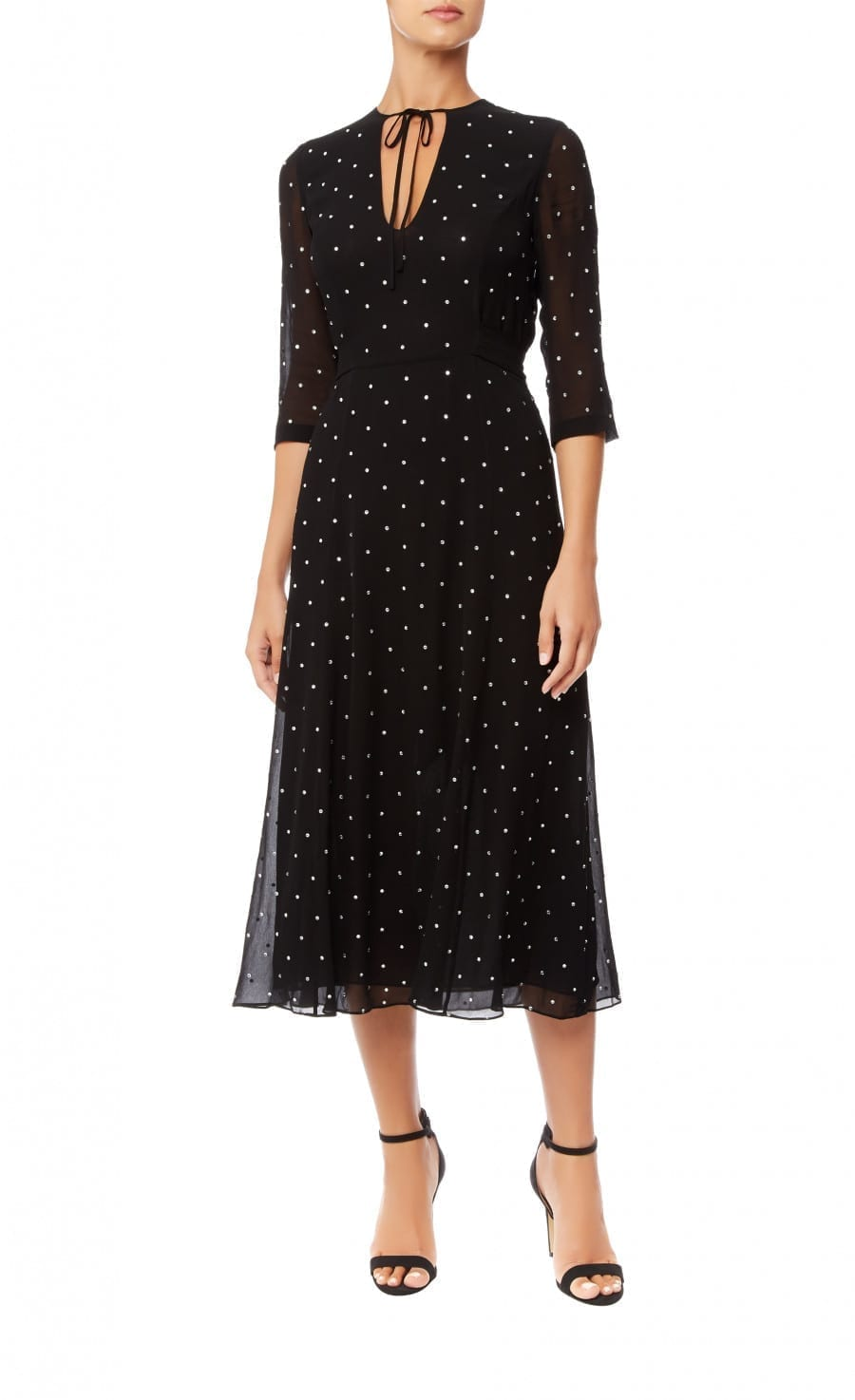 TEMPERLEY LONDON Twinkle Midi Black Dress