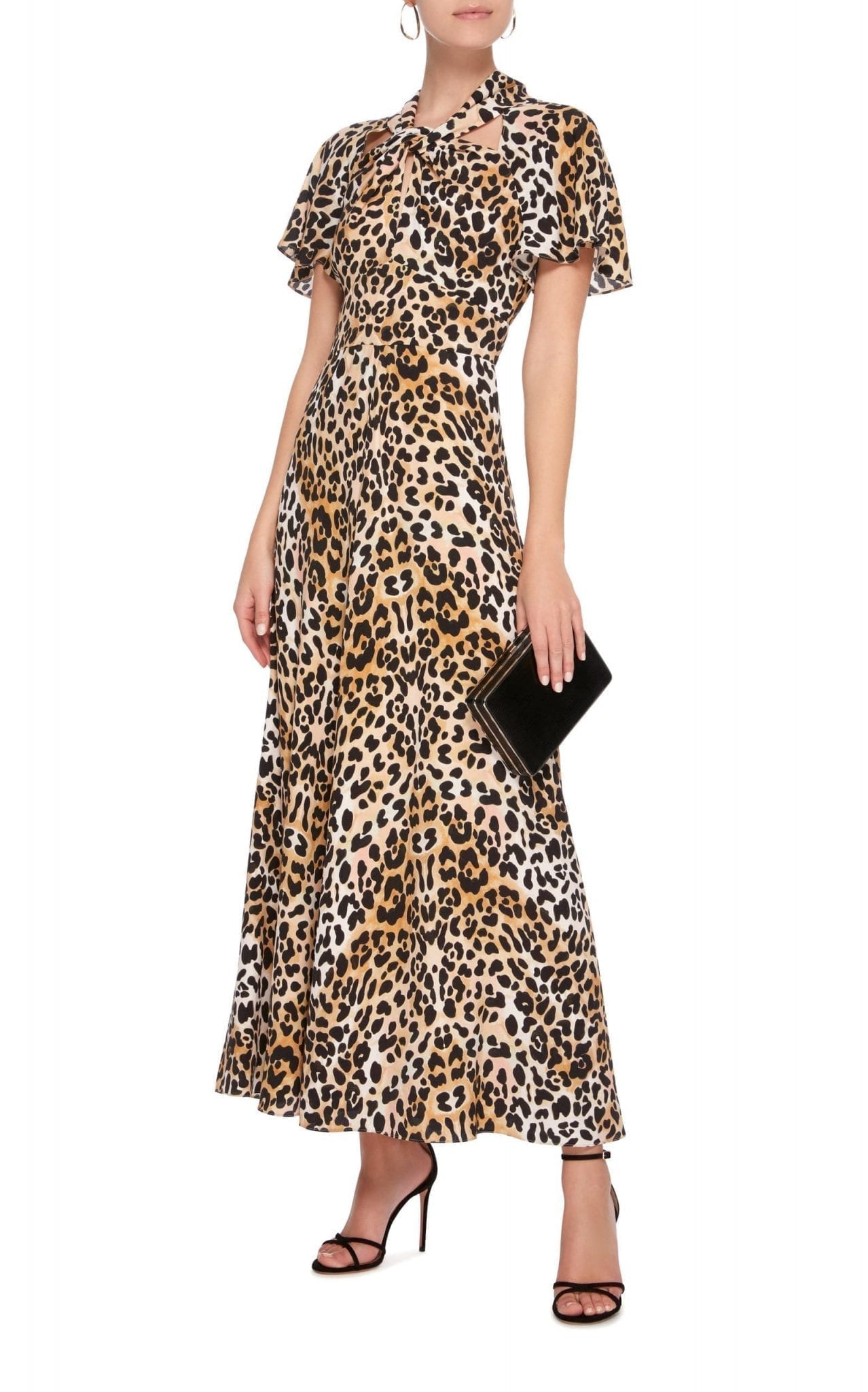 TEMPERLEY LONDON Wild Cat Midi Animal Printed Dress