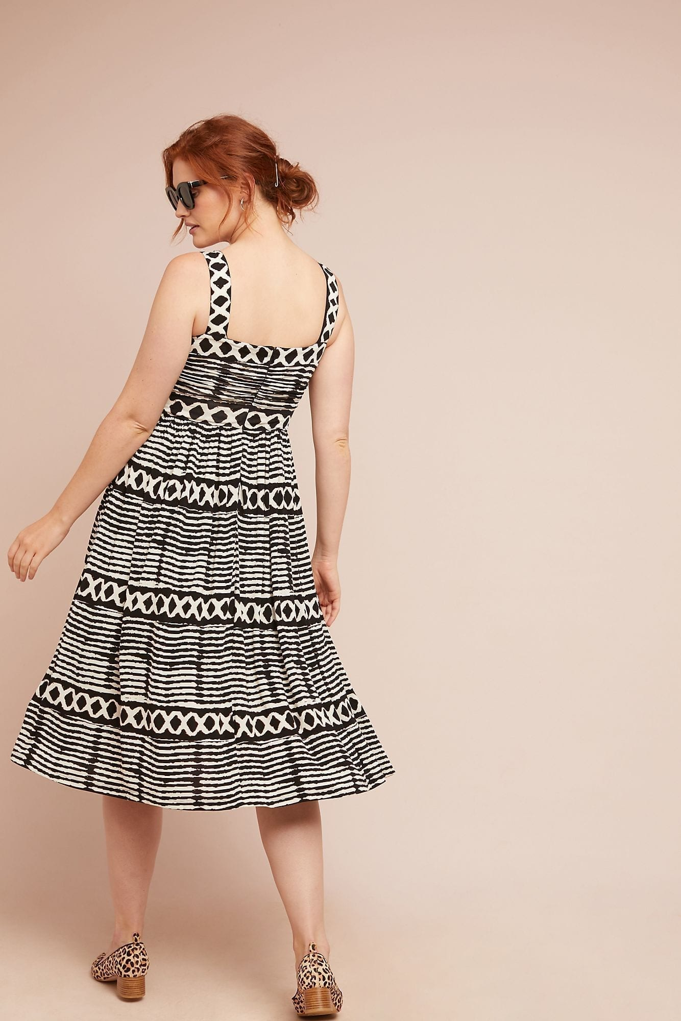 TRACY REESE X ANTHROPOLOGIE San Antonio Black / White Dress