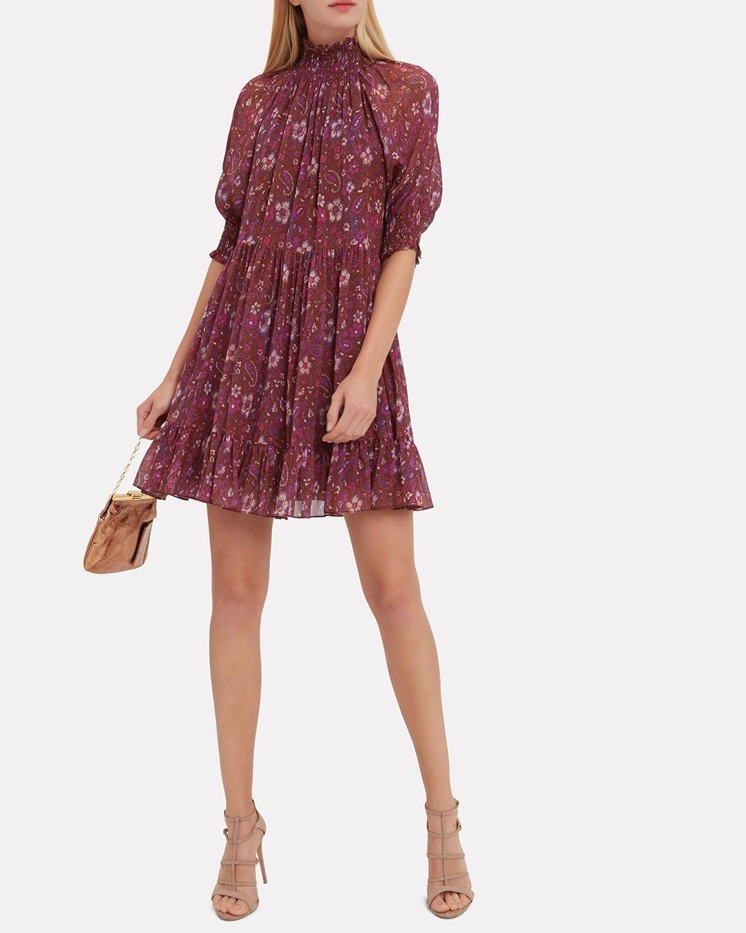 ULLA JOHNSON Josie Mini Multicolored Dress