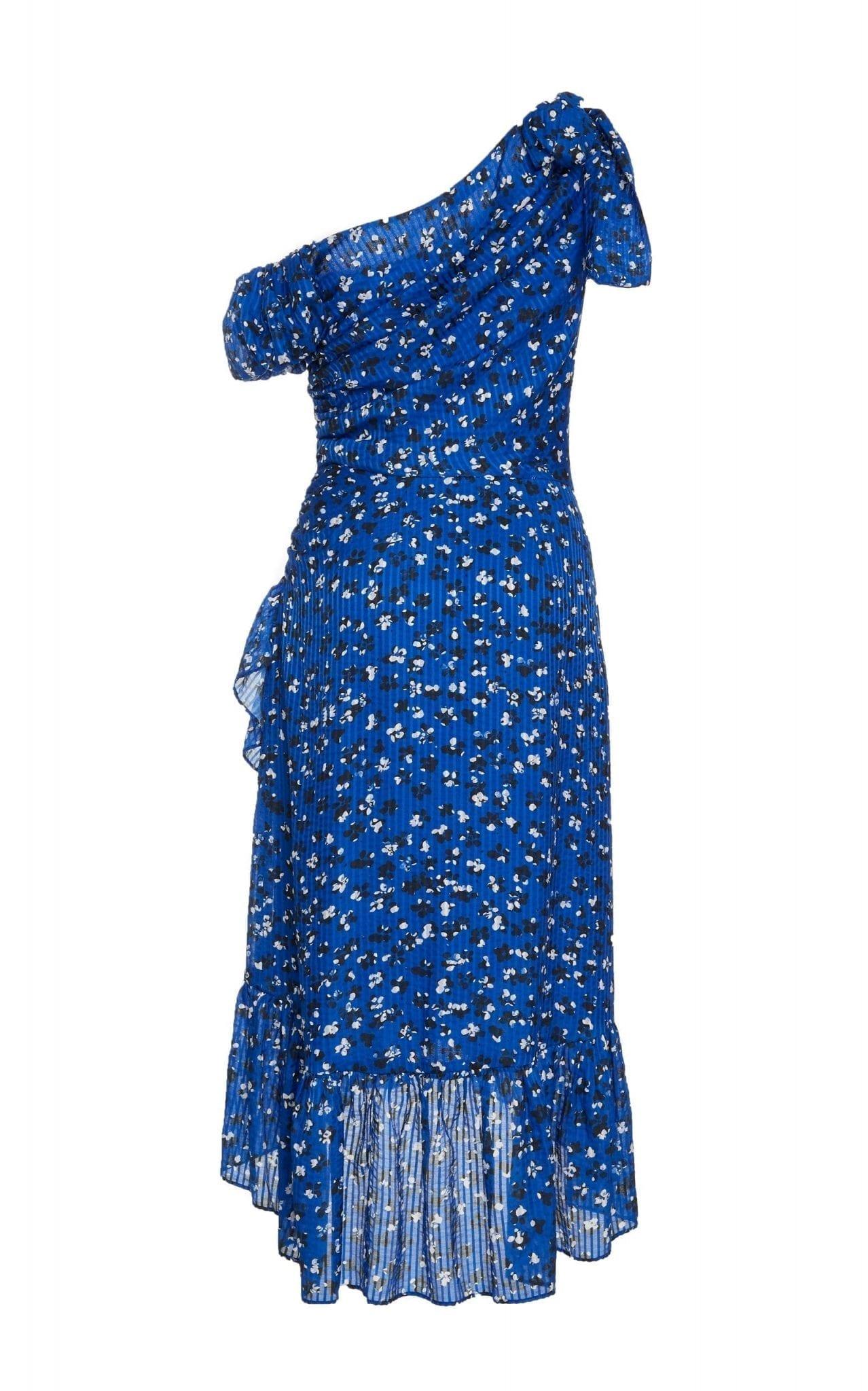 ulla johnson uma floral blue dress we select dresses