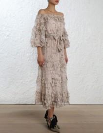 ZIMMERMANN Unbridled Ruffle Printed Dress