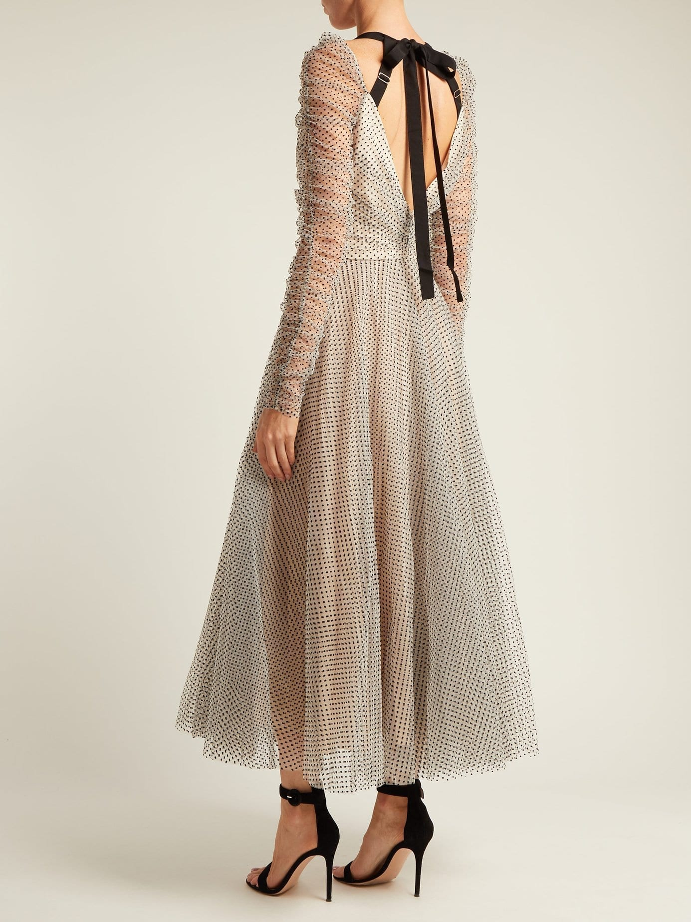 ZIMMERMANN Tempest Ballet Polka Dot Tulle White Dress