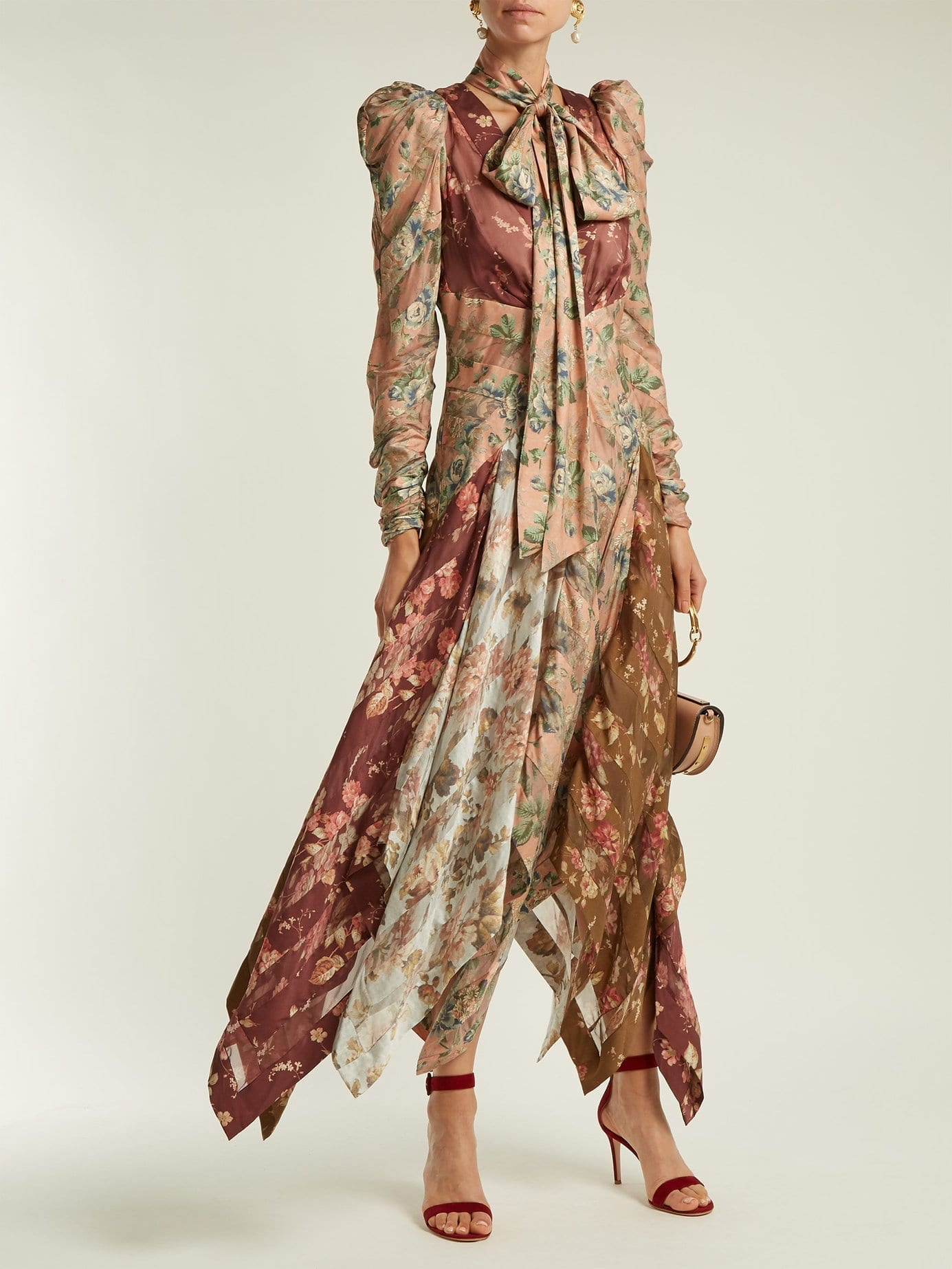 Zimmermann Silk Contrast Floral Dress We Select Dresses