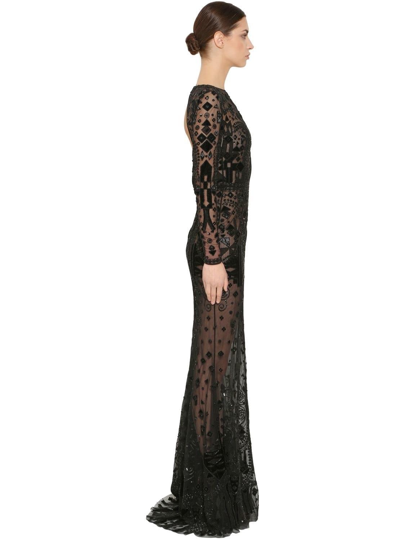 ZUHAIR MURAD Beaded Tulle Black Dress - We Select Dresses