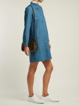 A.P.C. Bib-front Denim Blue Dress