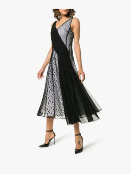 ADEAM-Art-Deco-Lace-And-Polka-Dot-Slip-Black-Dress