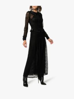 ALESSANDRA-Rich-Lace-Maxi-Ruffled-Cuffs-Black-Dress