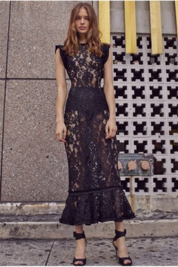 ALEXIS Kleo Black Dress