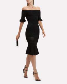 ALEXIS Sheira Knit Midi Black Dress