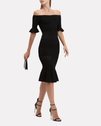 ALEXIS Sheira Knit Midi Black Dress