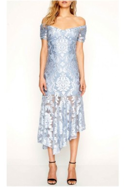 ALICE MCCALL Fleur De Lys Blue Gown