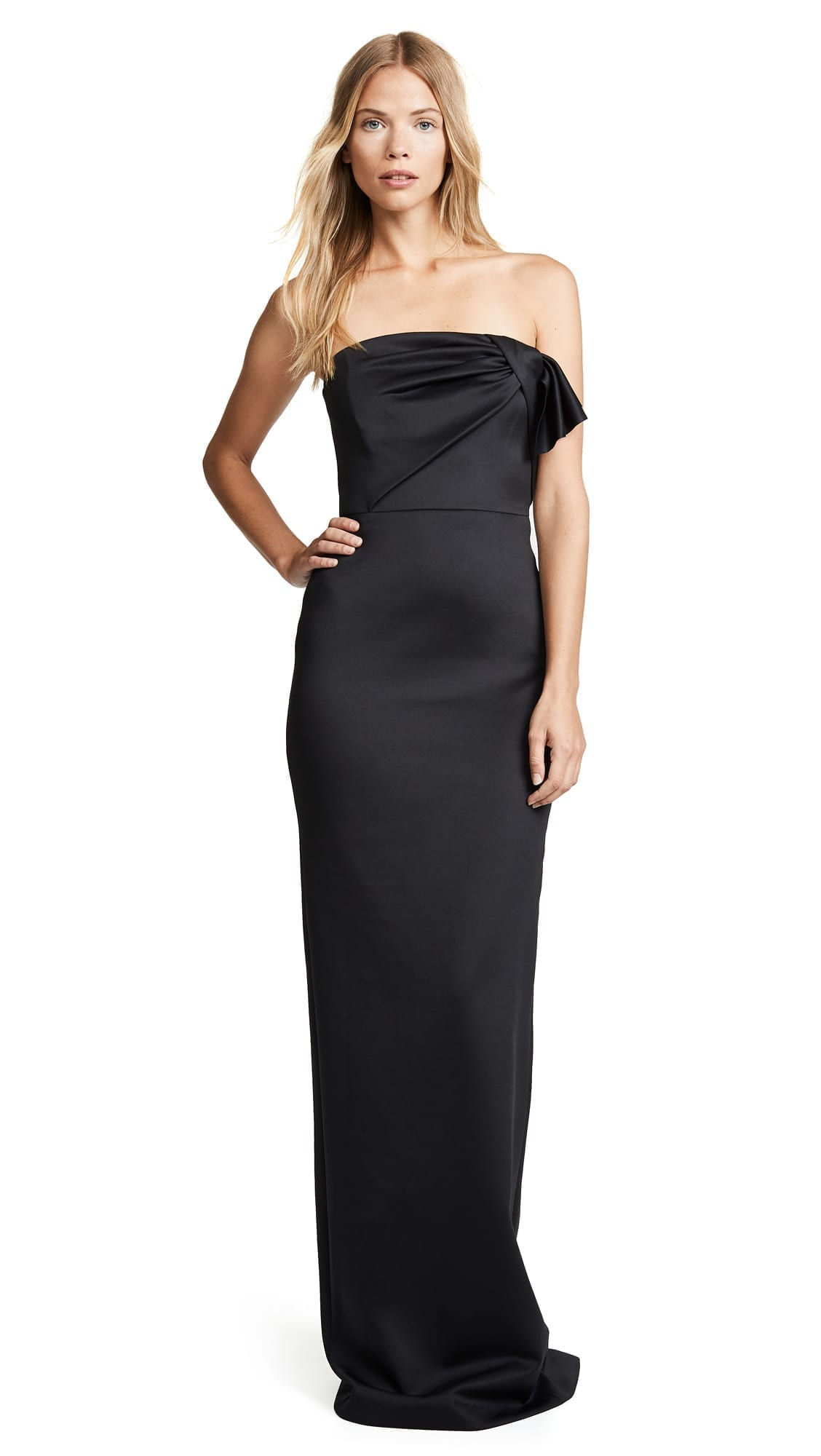 BLACK HALO Divina Sleeveles Long Black Gown - We Select Dresses
