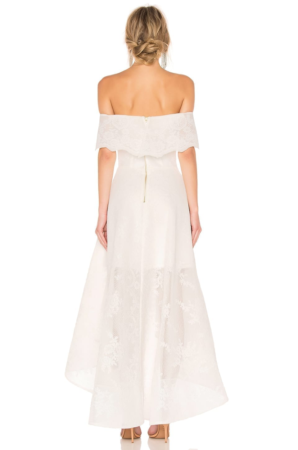 BRONX AND BANCO Tulip Lace Gown White Dress - We Select Dresses
