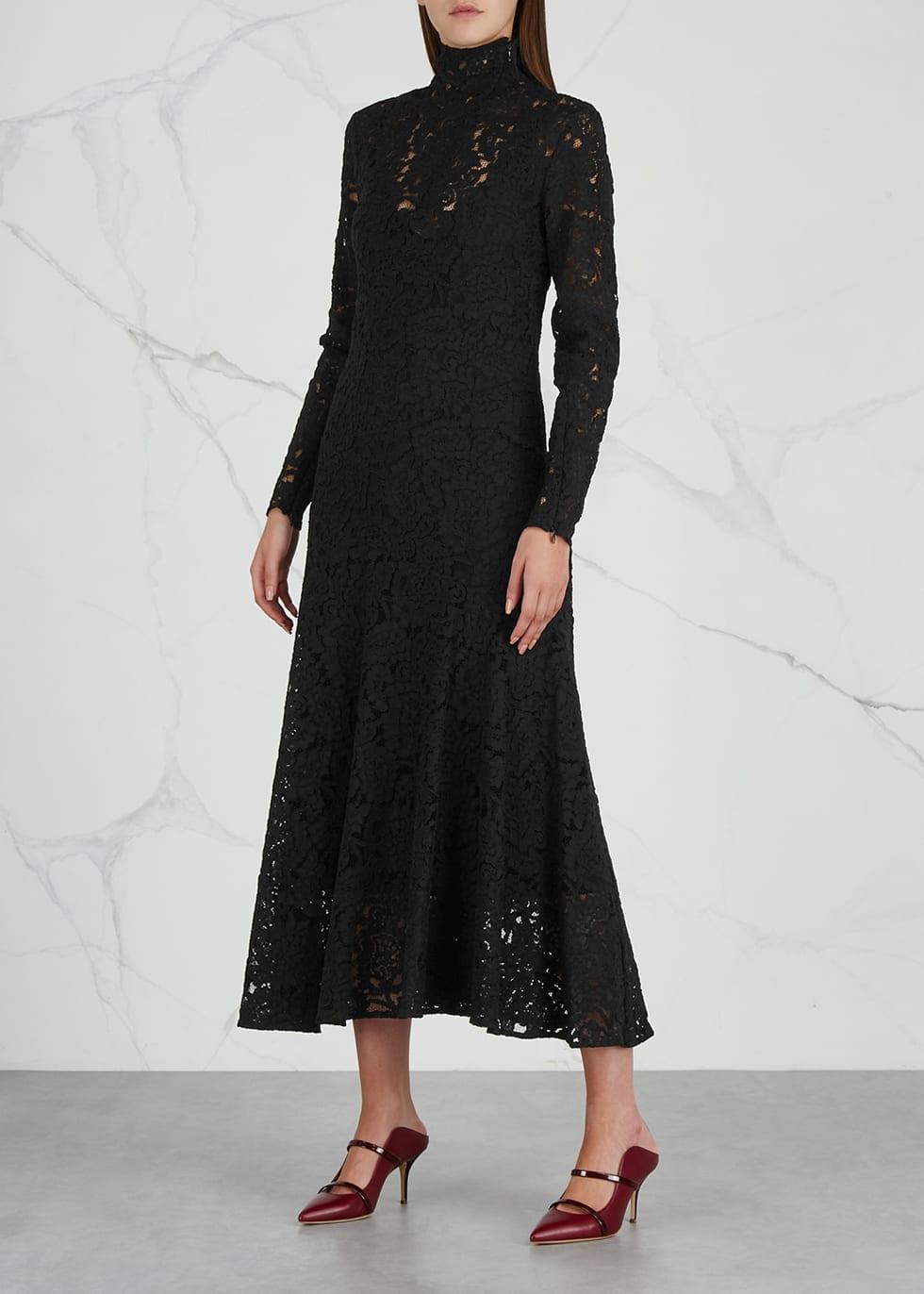 By Malene Birger Mulari Lace Midi Black Dress 2