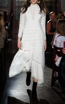 BYTIMO Vintage Cotton Midi White Dress