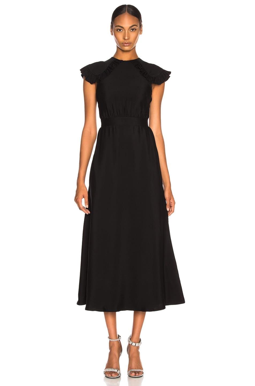 CALVIN KLEIN 205W39NYC Viscose Cady Cap Sleeve Black Dress - We ...