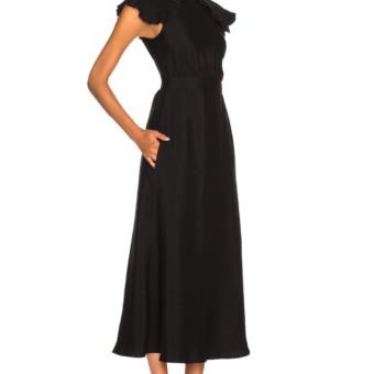63c830afbc CALVIN KLEIN 205W39NYC Viscose Cady Cap Sleeve Black Dress - We ...