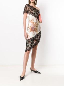 CHRISTOPHER KANE Valence And Lace Trim Ivory Dress