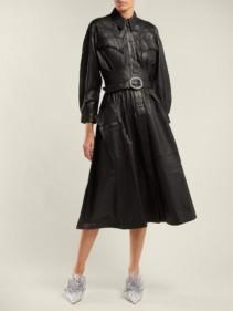 DODO BAR OR Belted Leather Black Dress