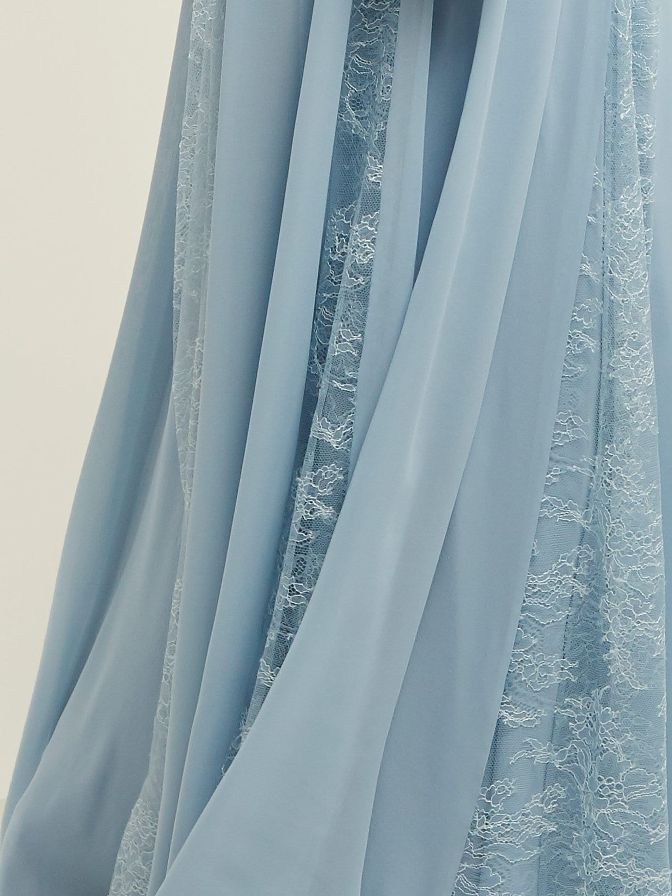 ELIE SAAB Lace Trimmed Silk Blend Evening Light Blue Gown - We ...