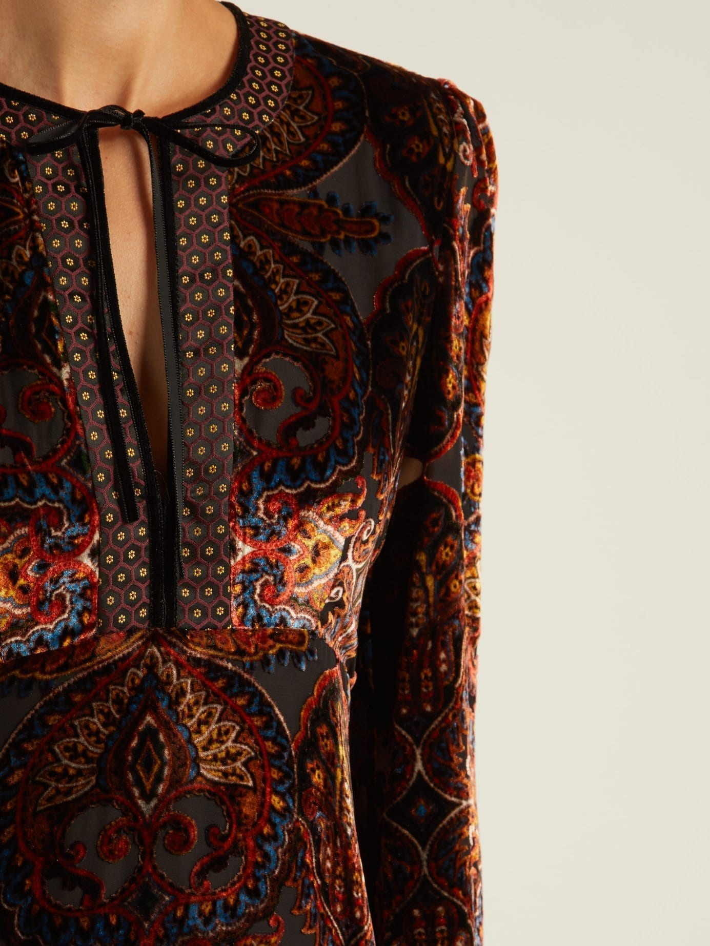 8669e79d7d0 ETRO Rosolite Paisley Devoré Velvet Orange Dress - We Select Dresses
