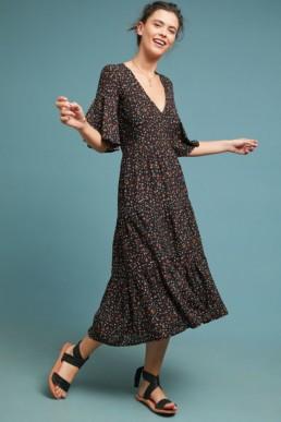 FAITHFULL Contrie Brown Dress