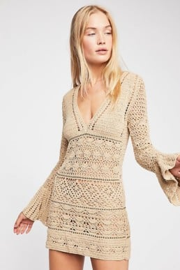 FREE PEOPLE Free Love Taupe Mini