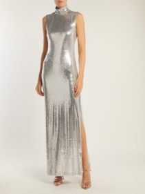GALVAN Galaxy Sequin Silver Dress
