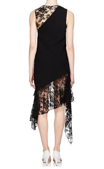 03d4052bf42d GIVENCHY Mixed Media Wool Midi Black Dress - We Select Dresses