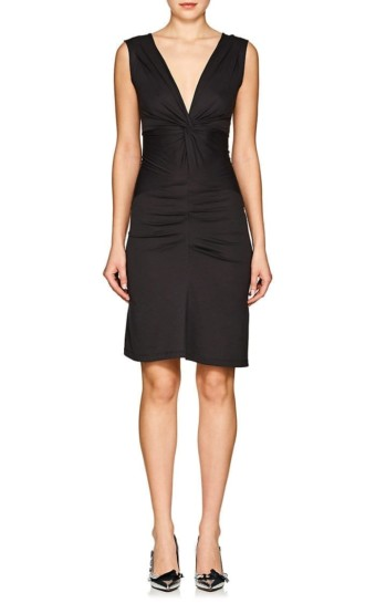 ISABEL MARANT ÉTOILE Rodwell Knotted Jersey Dark Grey Dress