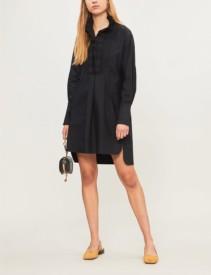 ISABEL MARANT ETOILE Milena Cotton Mini Black Dress