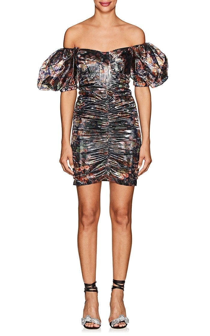 ISABEL MARANT Oxalis Floral Lamé Mini Multicolored Dress