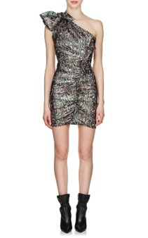 ISABEL MARANT Synee Metallic Jacquard Multicolored Dress