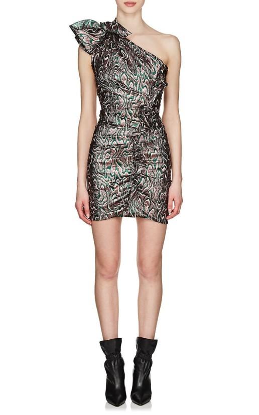 ISABEL MARANT Synee Metallic Jacquard Multicolored Dress