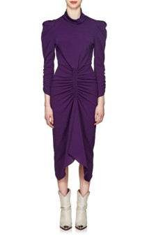 ISABEL MARANT Tizy Ruched Purple Dress
