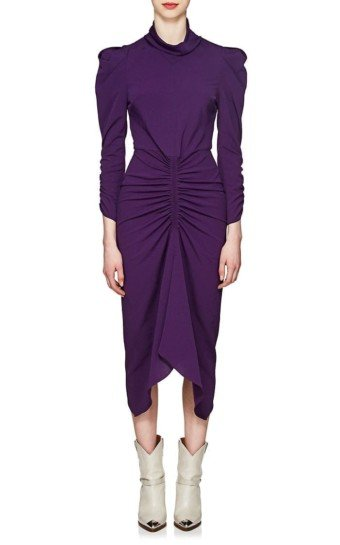 ISABEL MARANT Tizy Ruched Purple Dress